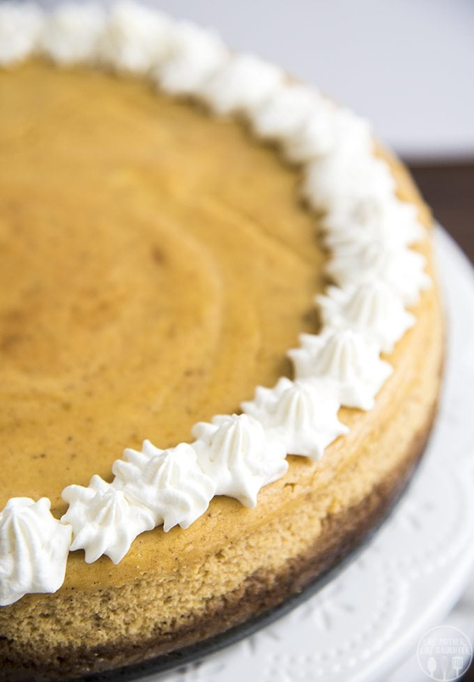 Pumpkin Cheesecake - Like Mother, Like Daughter