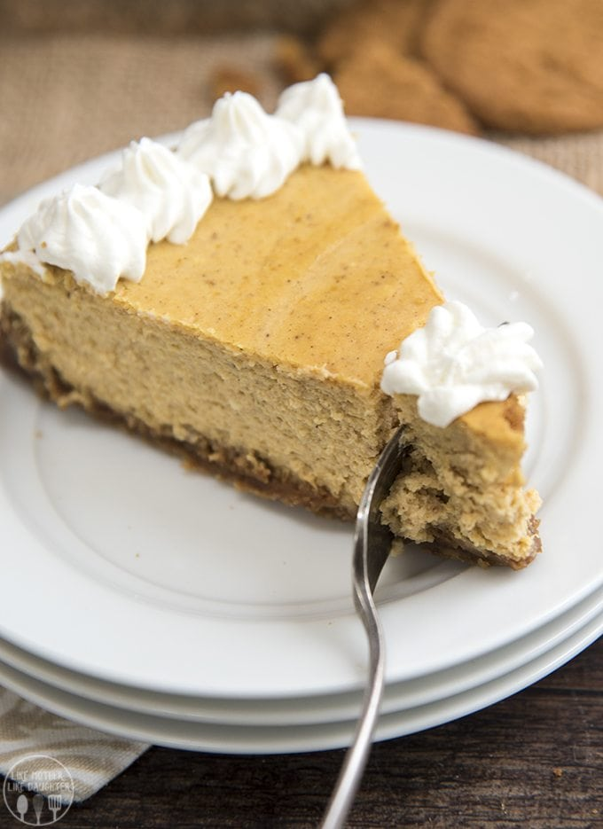 This pumpkin cheesecake combines two of the best flavors out there ...