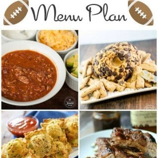 Game Day Menu Plan