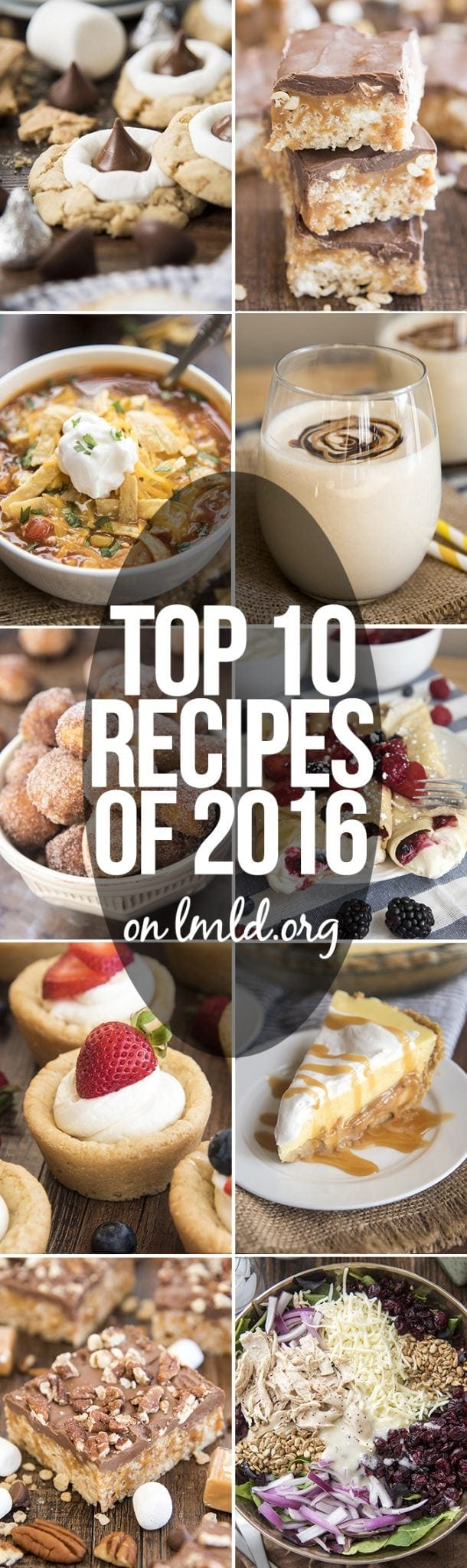 Top 10 Recipes of 2016 on Like Mother Like Daughter. You are going to love them all!