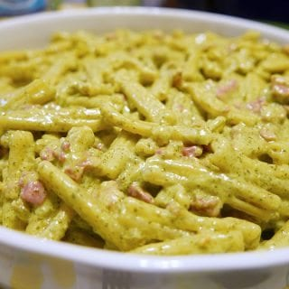 Casarecce Pasta with Basil Pesto