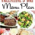 Valentine's Day Dinner Menu