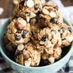 Blueberry Almond White Chocolate Chip Granola Bar Bites