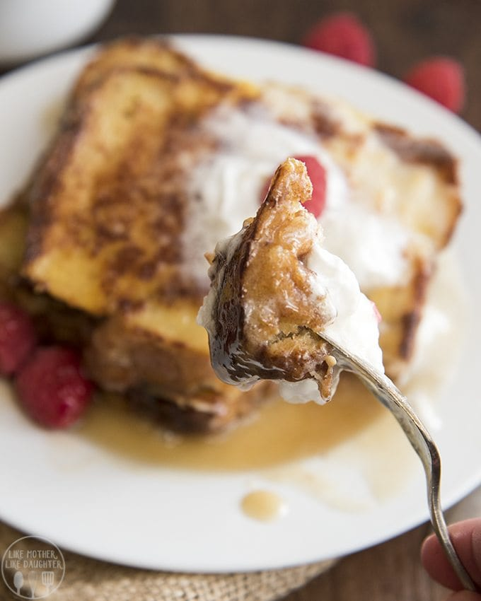 This caramel syrup is the best syrup to serve all over french toast, pancakes or waffles. Its so good, you'll belicking your plate clean!