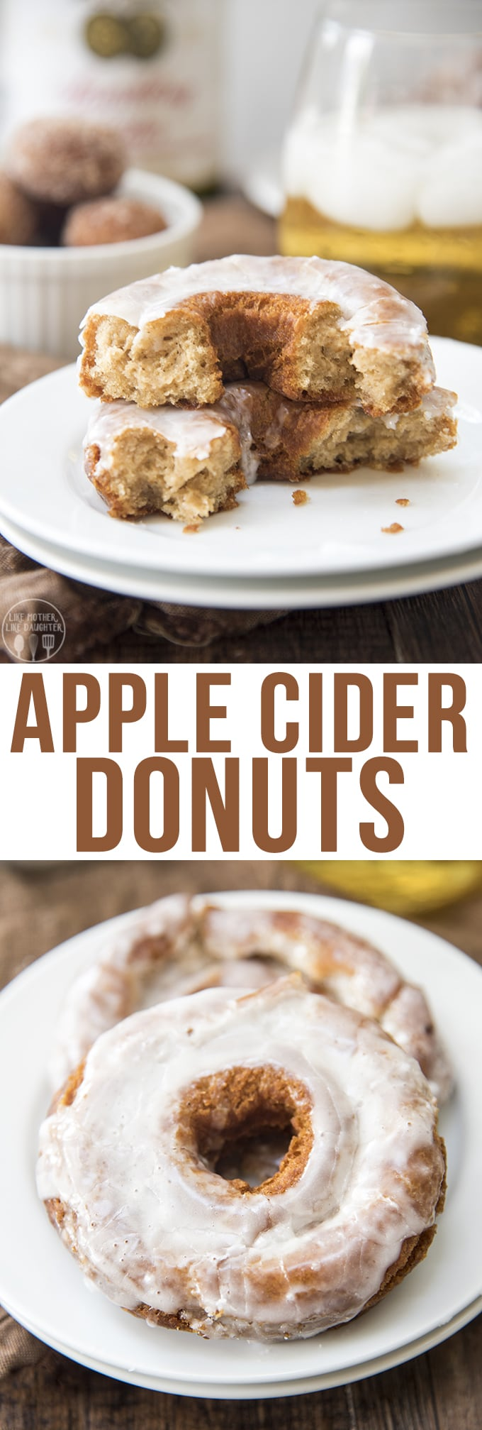 These apple cider donuts are a soft cake donut with a crunchy exterior ...