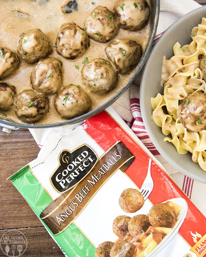 Swedish meatball sauce is rich and creamy and ready in only 15 minutes, perfect on top of frozen meatballs and noodles!