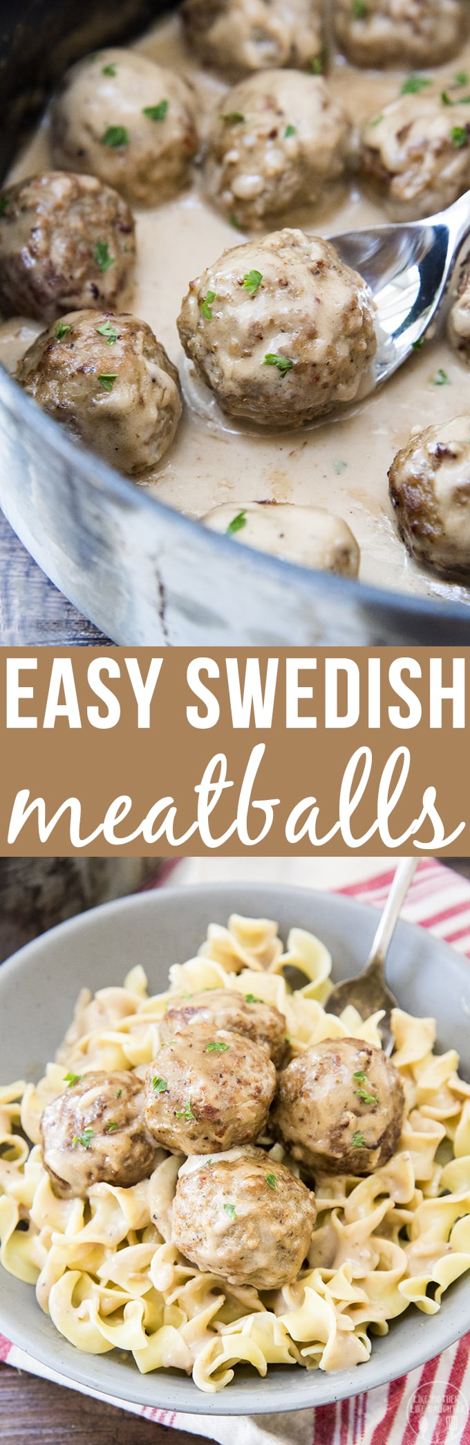 These easy Swedish meatballs are covered in a rich and creamy sauce and ready in only about 15 minutes!