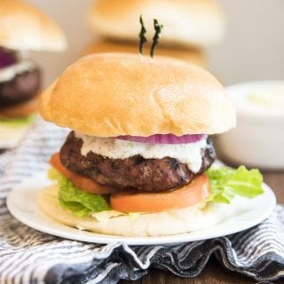 Greek Gyro Lamb Burgers