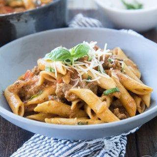 One pot sausage pasta