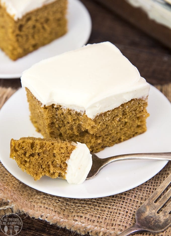 the best pumpkin cake with cream cheese frosting like mother like