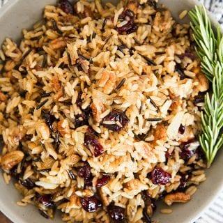 Cranberry Pecan Wild Rice Pilaf