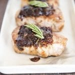 Pork Loin Chops with Balsamic Cranberry Sauce