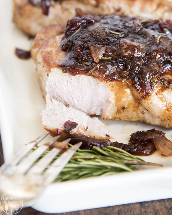 Pork Loin Chops with Balsamic Cranberry Sauce – Like ...