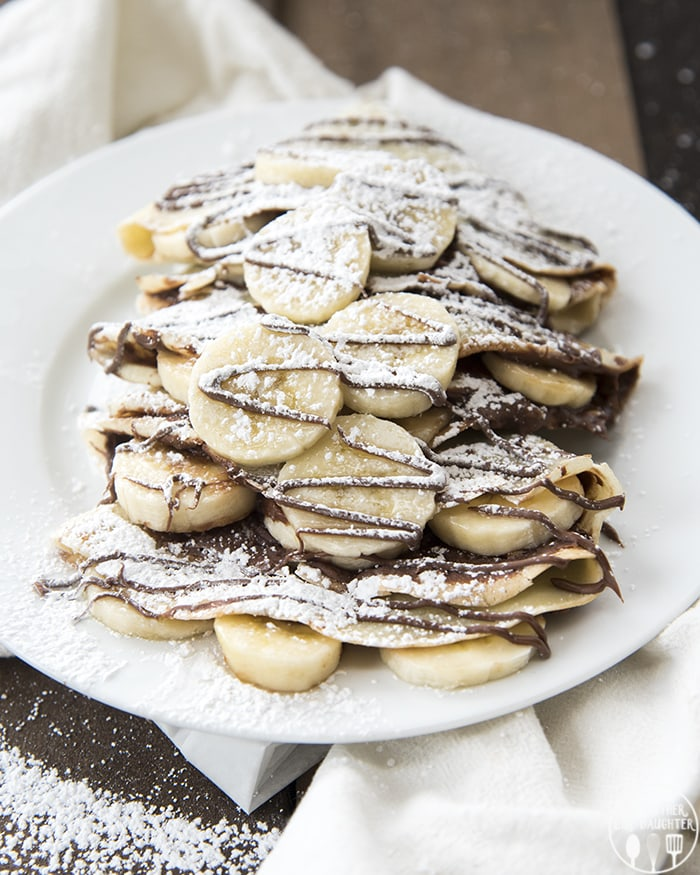 Banana Nutella Crepes – Like Mother, Like Daughter