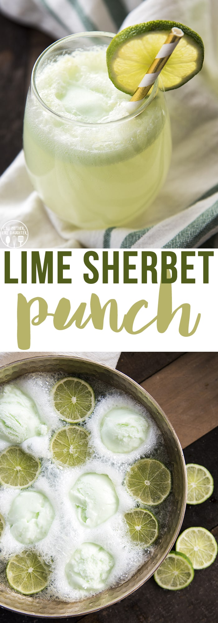 Lime Sherbet punch is a delicious and fun 3 ingredient drink that is perfect for any holiday, or party!