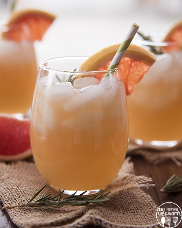 Rosemary Grapefruit Mocktail Like Mother Like Daughter
