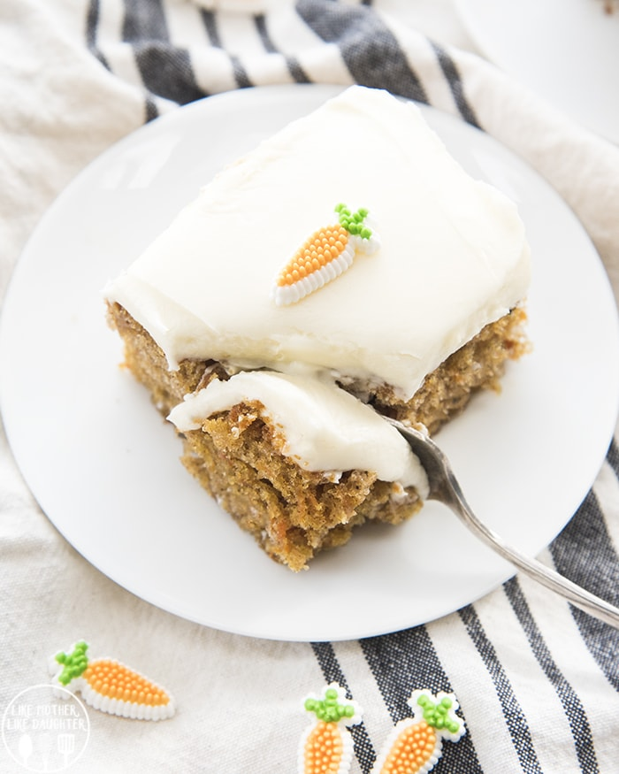 Best Moist Pineapple Cake: Easy Carrot Cake (in A 9x13 Pan)