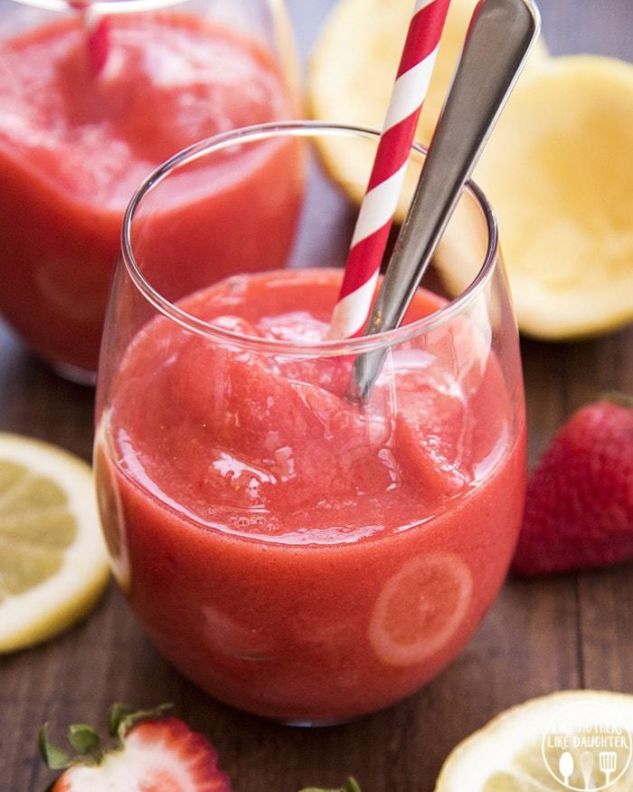 Frozen Strawberry Lemonade Slush