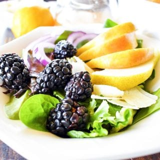 Pear Blackberry Salad with Lemon Vinaigrette