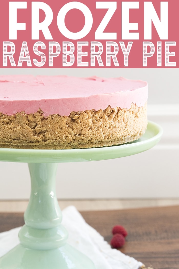 This frozen raspberry pie is the perfect cold summer dessert! Its creamy, refreshing and bursting with a delicious raspberry flavor!