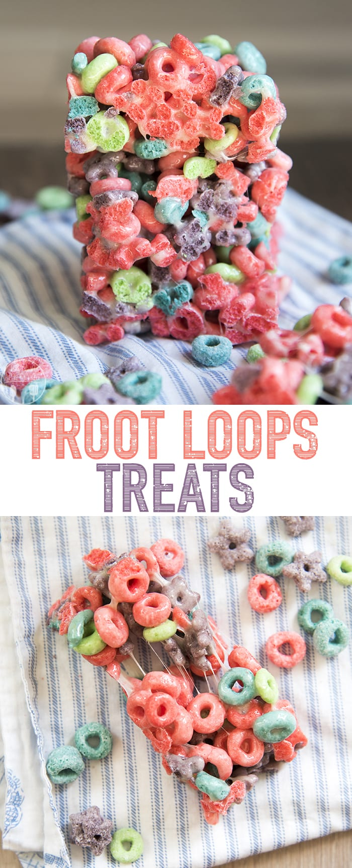 Froot Loop<b><i>s®</i></b> Treats are a delicious twist on classic cereal treats, </em><b><i>Kellogg's® Wild Berry Froouit Loops® instead of crisp rice cereal.
