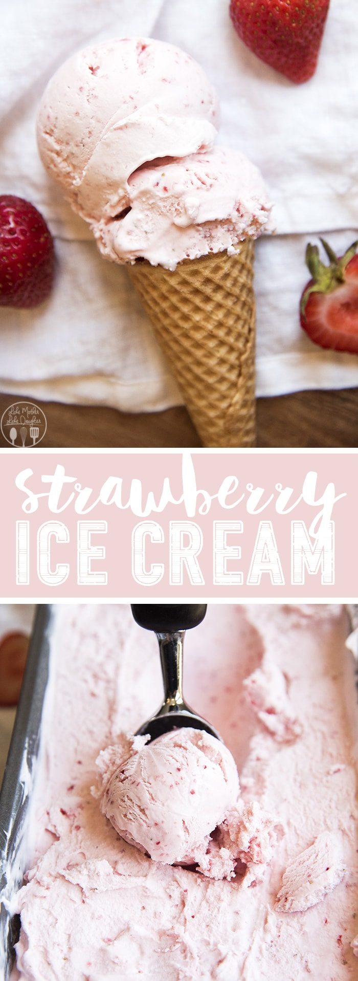 Homemade strawberry ice cream is so rich and creamy, with an amazing fresh strawberry taste. Its egg and cook free, and so easy to make!