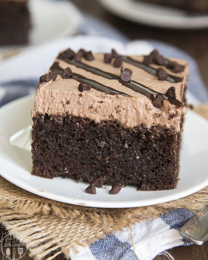 chocolate poke cake like mother like daughter