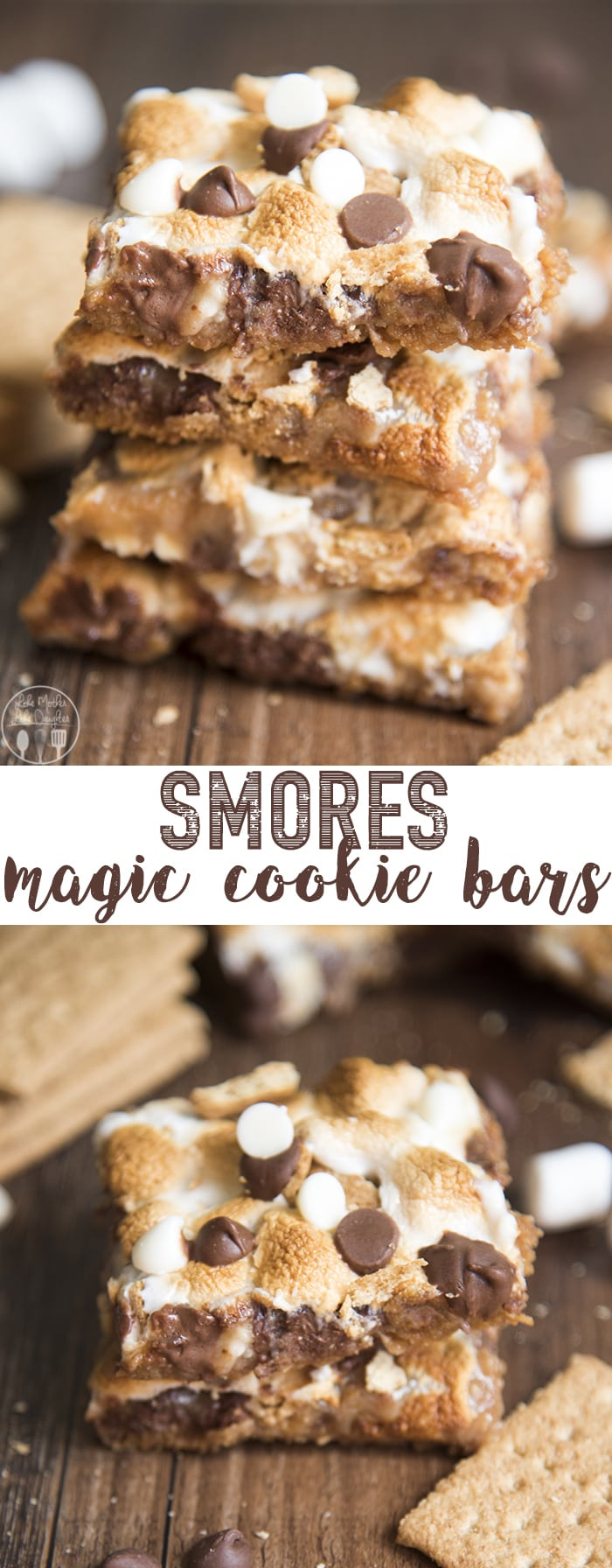 S'mores Magic Cookie Bars are gooey magic bars with a s'mores twist. They've got all the flavors of a toasty s'more without the fire!