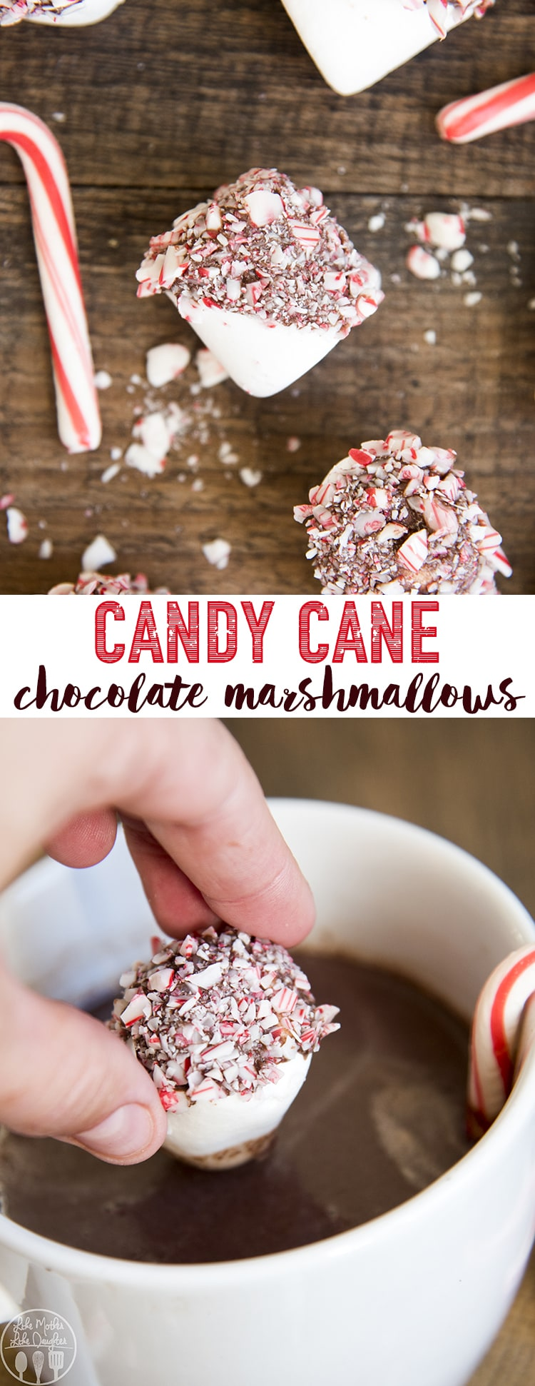 These peppermint chocolate marshmallows are chewy marshmallows dipped in melted chocolate and covered in crushed candy canes! Such a tasty holiday treat!!