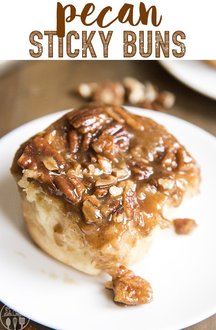 These Pecan Sticky Buns are the perfect soft and sweet roll topped with a sweet caramel, and crunchy pecans. These are perfect for breakfast!