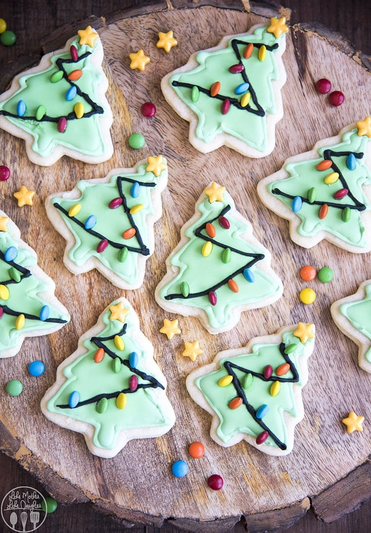 Christmas Tree Sugar Cookies – Like Mother, Like Daughter