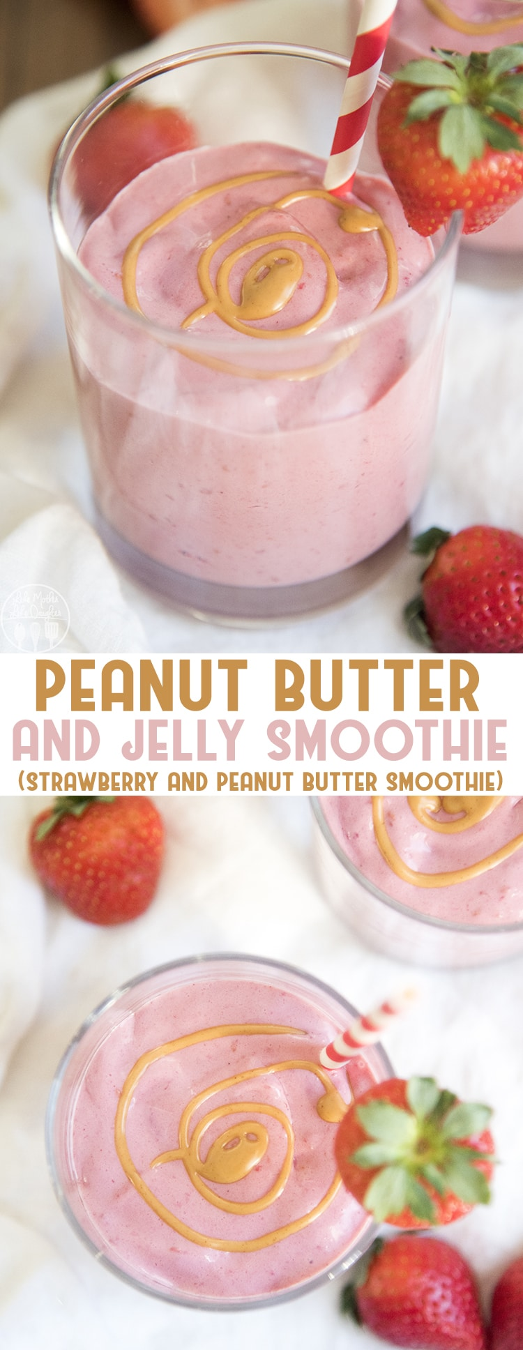 This peanut butter and jelly smoothie is perfect for a busy morning when you want a delicious breakfast that keeps you full until lunch. It's so easy and tastes just like a peanut butter and jelly sandwich!